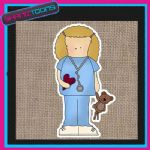 CUTE NURSE DESIGN JUTE  SHOPPING LADIES GIFT BAG 002